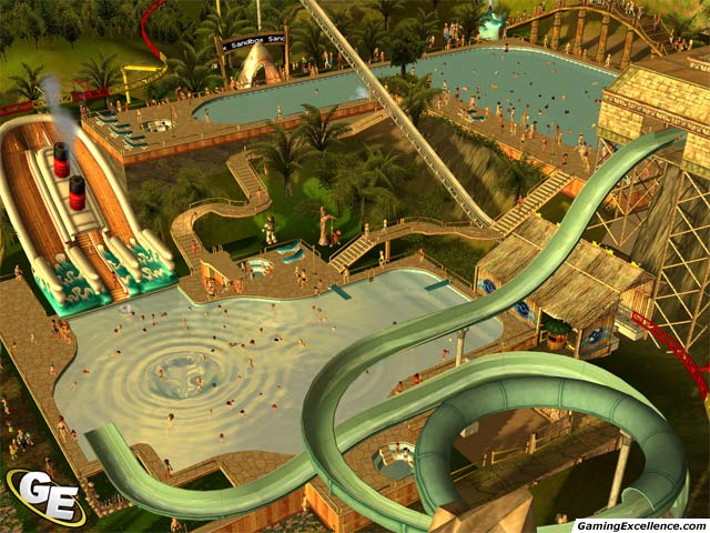 Roller Coaster Tycoon  How To Build Pool Slides